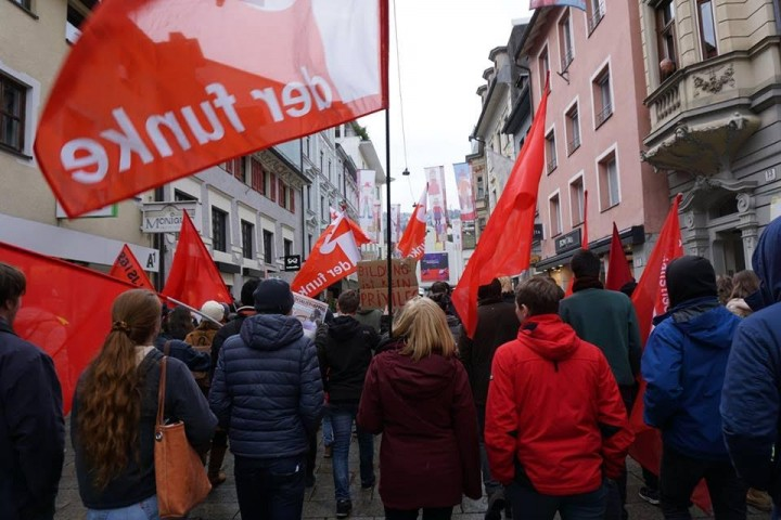 Comrades marching in Bregenz Image own work