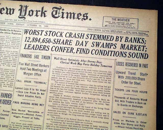 Crash newspaper Image public domain