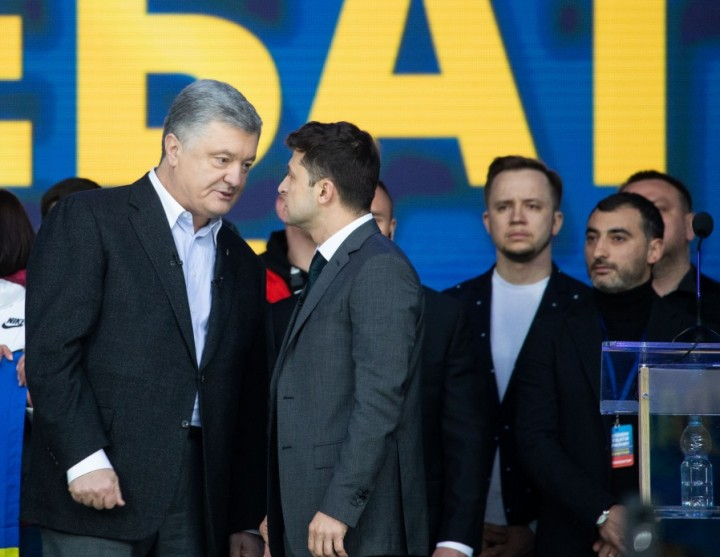 Debates of Petro Poroshenko and Vladimir Zelensky Image Presidential Administration of Ukraine