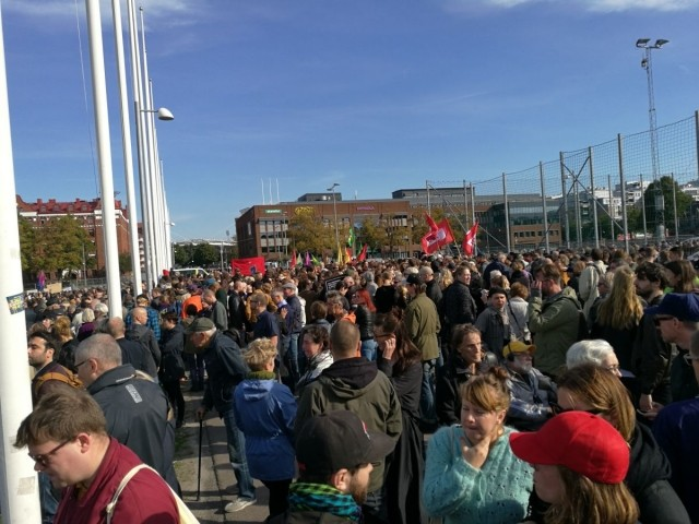 Sweden anti fascist demo 8 own work