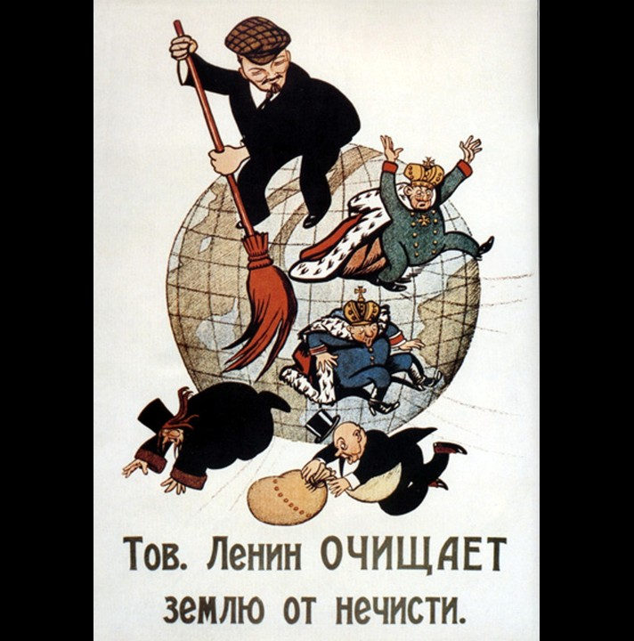 Lenin sweeping the world