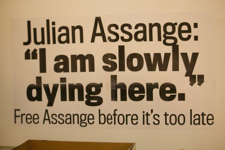 Assange dying Image Pamela Drew Flickr