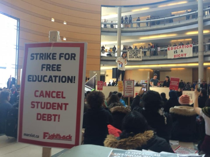 Strike for free education Image Fightback