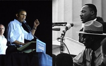 Obama and King - not so alike like after all. Photo on the left by bonayur on Flickr