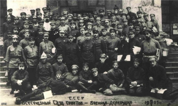 Military delegates to a session of the 3rd All Union Congress of Soviets Image public domain