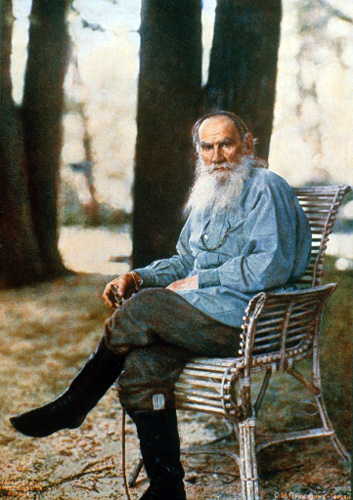 Only color photograph of Leo Tolstoy (by Prokudin-Gorskii)