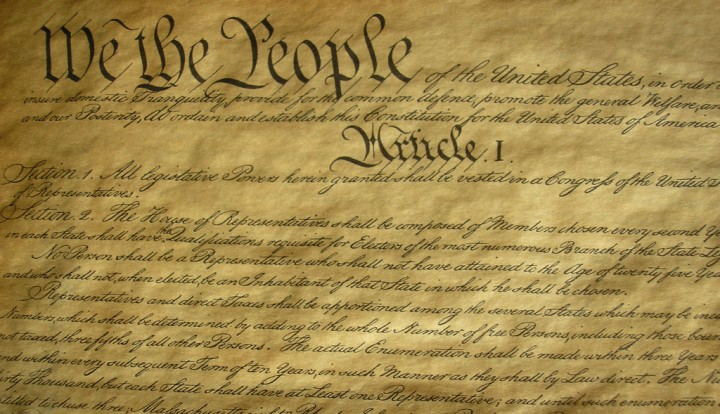 US Constitution Image Flickr Jonathan Thorne