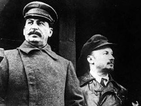 Stalin and Bukharin Image public domain