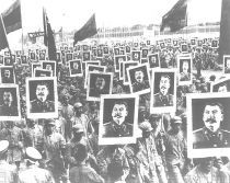 Chinese communists celebrate Stalins birthday 1949