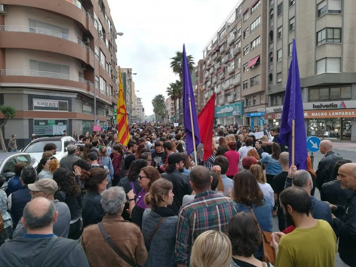 Protest in Alicante Alacant on Saturday Image own work