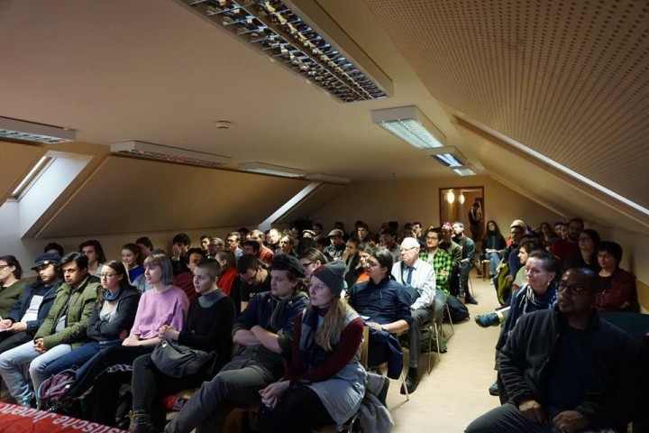 Packed room at the Karl Marx seminar Image own work