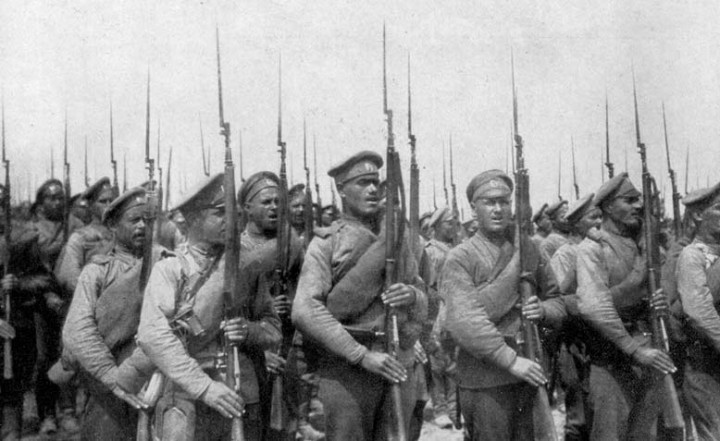 russian infantry ww1 Image public domain