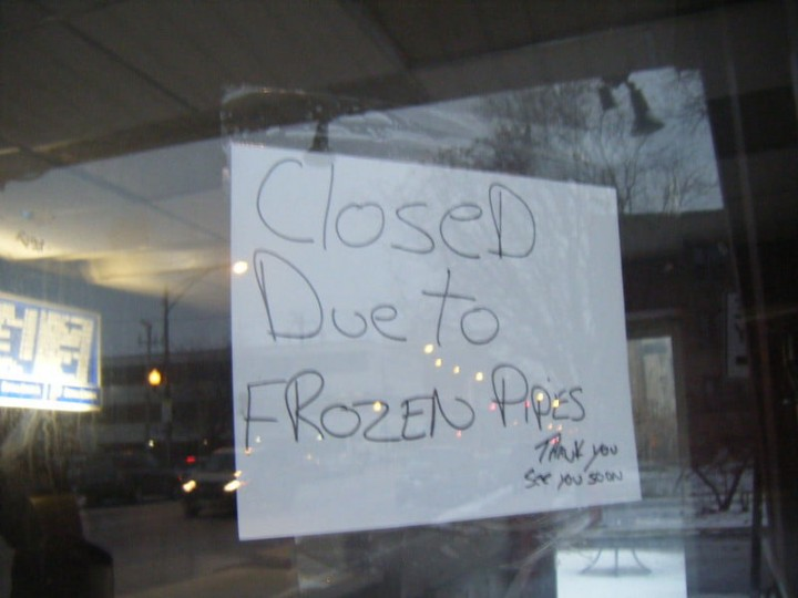 Texas Snowstorm 2021 Closed due to frozen pipes Image Rachel Flickr