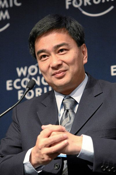 Prime Minister Abhisit Vejjajaya. Photo by World Economic Forum/Monika Flückinger.