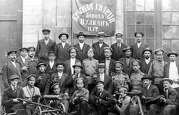 Red Guards of the Vulkan factory in Petrograd - Photo:Public Domain