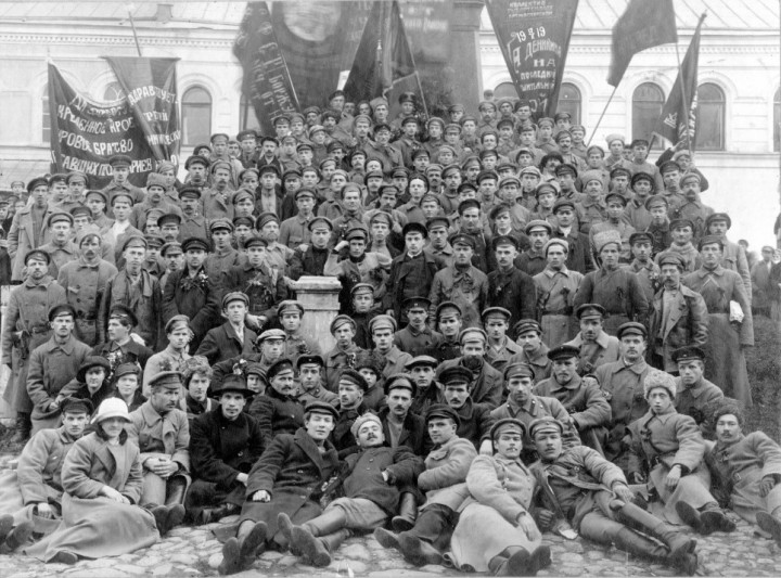 The Red Army before being sent to the Civil War Image public domain