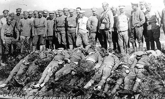 Bolsheviks massacred by Czechoslovak legionaries Image Lt. William C Jones