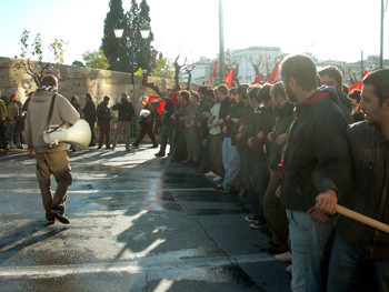 Demonstration in Athens on December 18, 2008 (Photo by solidnet_photos on flickr)