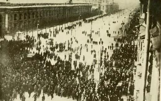 Demonstration in Nevsky Prospekt - Public Domain