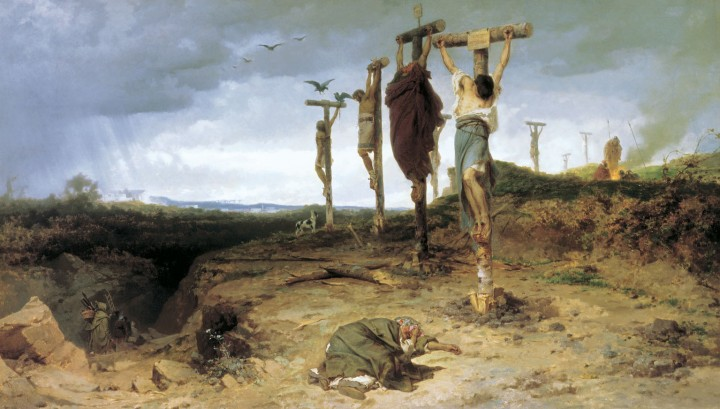 Crucified slaves Image public domain