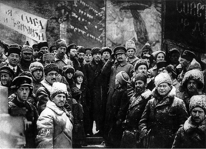lenin second anniversary october revolution moscow Image public domain