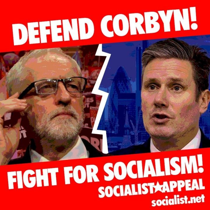 Defend Corbyn Fight for Socialism square Image Socialist Appeal