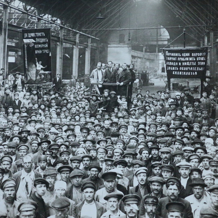 Putilov Plant Petrograd meeting of workers July 1920