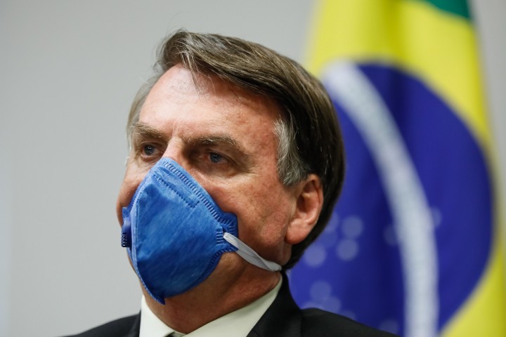 Bolsonaro facemask Image Palácio do Planalto Flickr