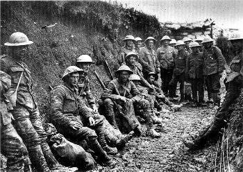 An image of the trenches in which millions of workers died during World War I.