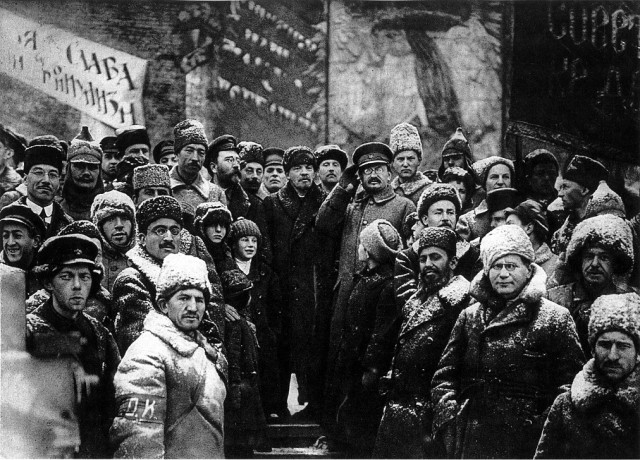 Lenin Trotsky and the masses Image Wikimedia Commons