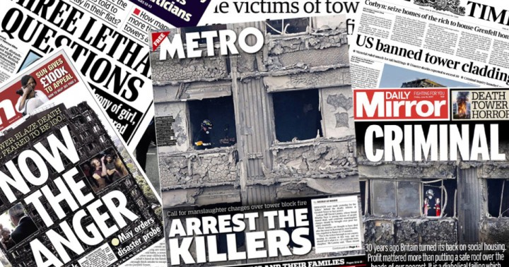 Grenfell friday newspapers Image Socialist Appeal