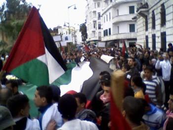 Demonstration in Morocco against attack on Gaza