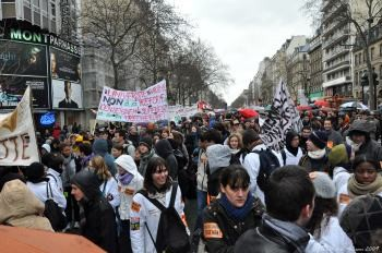 On 10 February a massive demonstration was held in Paris in protest against the French government's plans for education. Photo by ptit@l on Flickr.