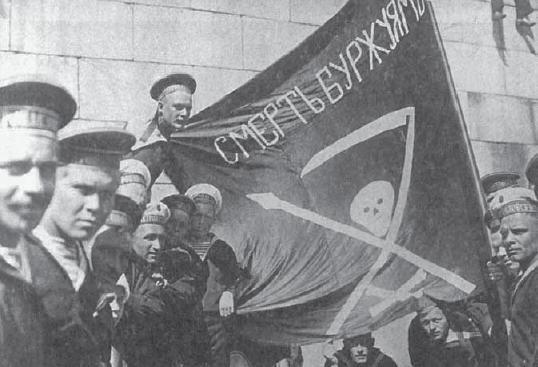 Kronstadt sailors in 1917 Image Anarkistimatruuseja