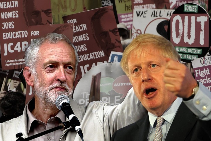 Johnson and Corbyn Image Socialist Appeal