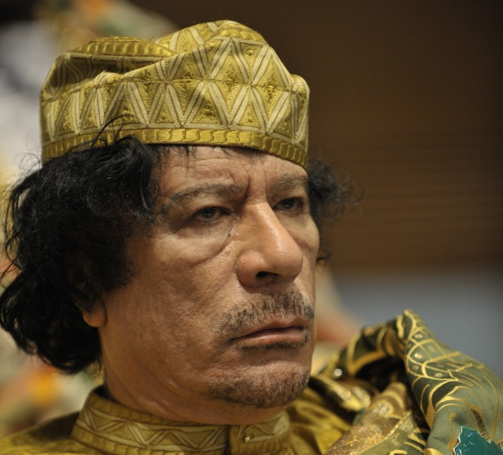 Muammar al Gaddafi at the AU summit Image Jesse B. Awalt