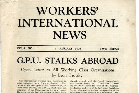 First issue of Workers' International News, the theoretical magazine of the WIL
