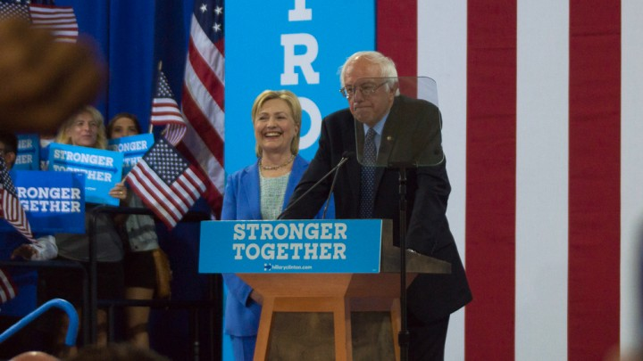 Bernie Sanders Hillary Clinton 2016 Image Image Flickr Marc Nozell
