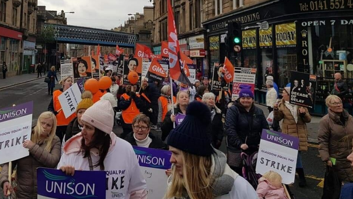 Glasgow council workers strike 3 Image fair use