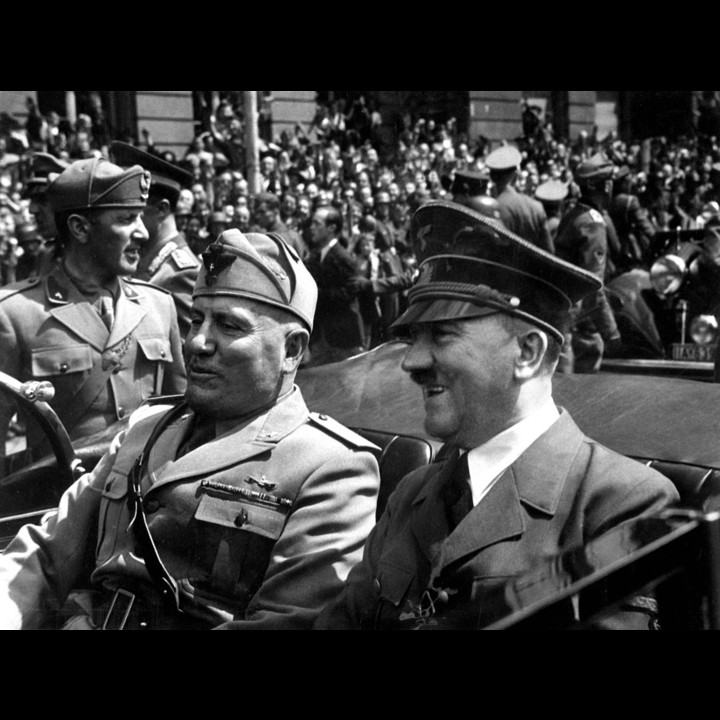 Hitler and Mussolini June 1940 Public Domain