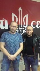 Dmitry Yarosh and Borislav Bereza Right Sector leaders