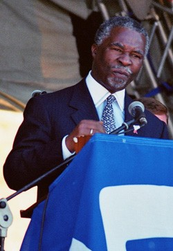 Thabo Mbeki in 2001. Picture by Henry Trotter.