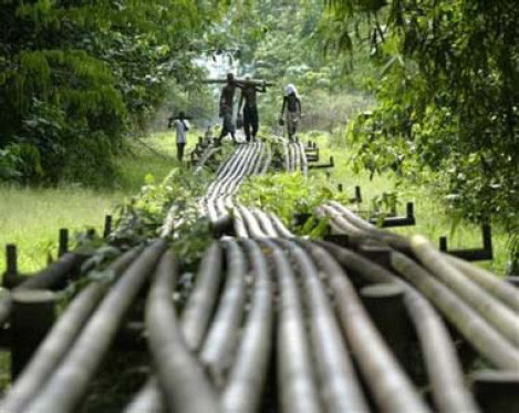 Oil pipes in Nigeria