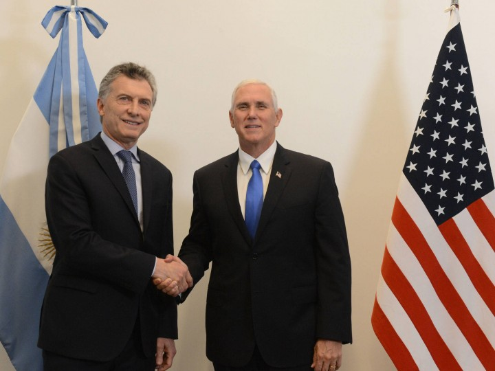 President of Argentina Mauricio Macri Vice President of the United States Michael R. Pence in Buenos Aires 15 August 2017 White House
