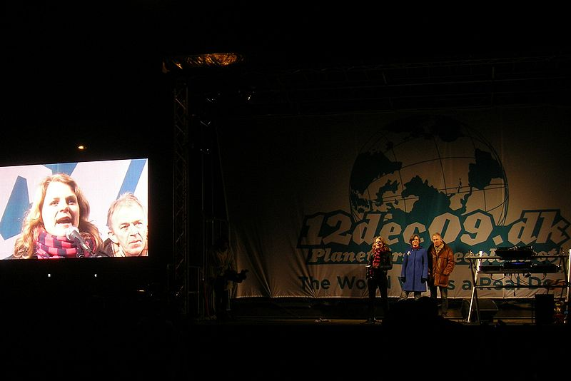 Leaders of The Unity List, SF and Radical Left sharing a stage at COP15 conference in 2009 - Photo: Pechke