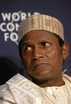 Yar' Adua, President of Nigeria (Photo by Andy Mettler on swiss-image.ch)